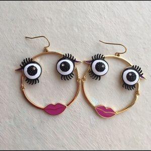 Kate spade Monster hoop earring